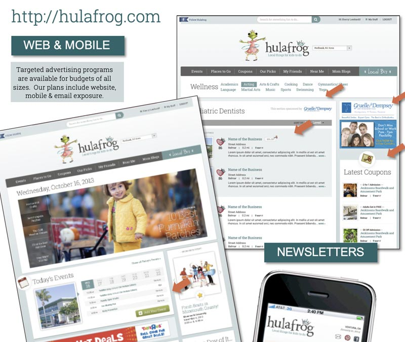 hulafrog advertising package
