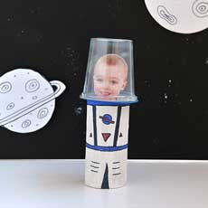Space Crafts Using Toilet Paper Rolls