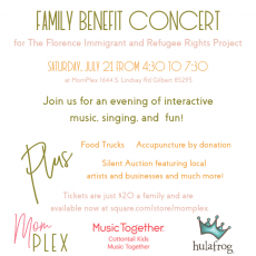 Things to do in Gilbert, AZ for Kids: The Florence Project Benefit Event, MomPlex