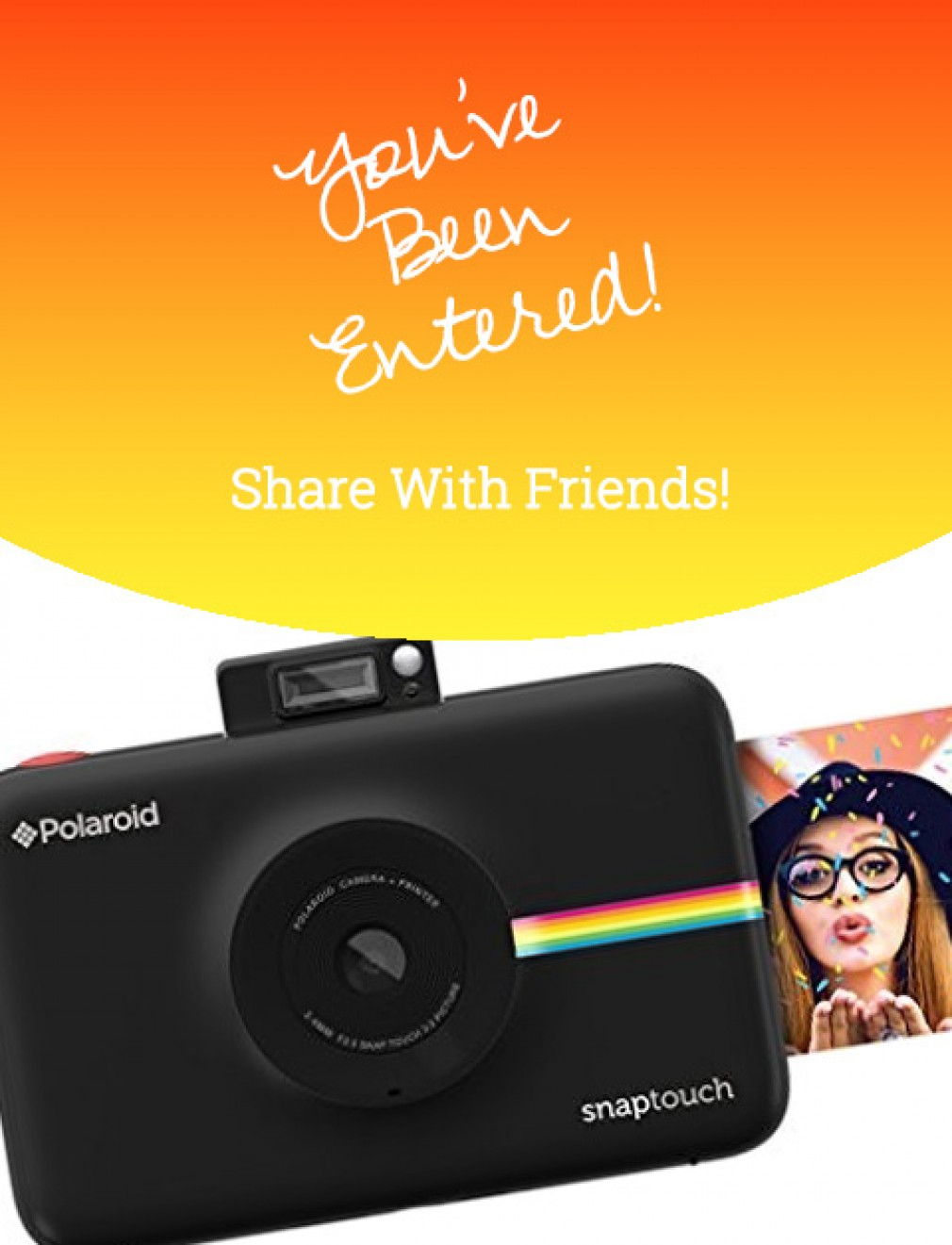 Polaroid Snap Instant Digital Camera July 2018 Giveaway