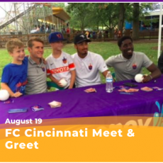 Things to do in Cincinnati Eastside, OH for Kids: FC Cincinnati Meet & Greet, Coney Island Amusement Park
