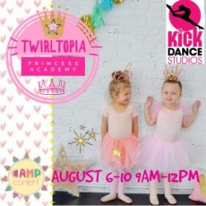 Twirltopia Princess Academy, August 6-10, Ages: 3-6