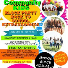 Block Party/Back to school extravaganza