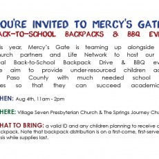 Back-to-School Backpacks and BBQ Event