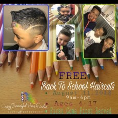 FREE Back To School Haircuts