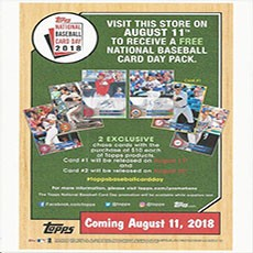 Aurora Co Hulafrog National Baseball Card Day 2018 At