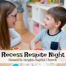 Things to do in Pearland, TX for Kids: Recess Respite Night, Heights Baptist Church