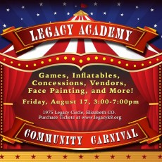 Things to do in Castle Rock-Parker, CO	 for Kids: Community Carnival, Legacy Academy