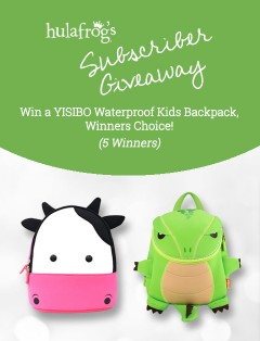 YISIBO Waterproof Kids Backpack August 2018 Giveaway