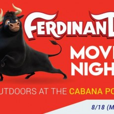 Things to do in Southern Monmouth, NJ for Kids: Outdoor Movie Night at The Cabana Pool, The Atlantic Club
