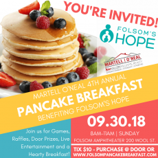 4th Annual Pancake Breakfast Benefiting Folsom Hope