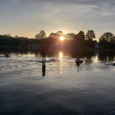 Columbia Sc Hulafrog Sunset Paddle With Fit To Sparkle On Lake Murray