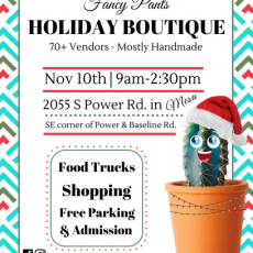 Things to do in Chandler, AZ for Kids: Fancy Pants Holiday Boutique, Fancy Pants Events AZ