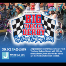 Things to do in West Hartford-Farmington Valley, CT for Kids: Big Wheel Derby, Mandell JCC of Greater Hartford