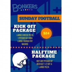 Things to do in Boston North Shore, MA for Kids: Sunday Football Fun, Bonkers Funhouse