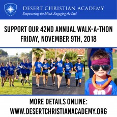 Things to do in Coachella Valley, CA for Kids: Walk-A-Thon, Desert Christian Academy