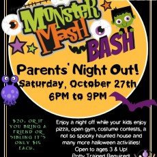 Things to do in Rock Hill, SC for Kids: Monster Mash Bash - Parent's Night Out, Next Level Gymnastics Academy
