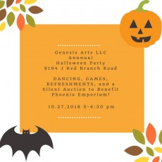 Things to do in Laurel-Columbia, MD for Kids: Halloween Party & Fundraiser!, Genesis Arts LLC