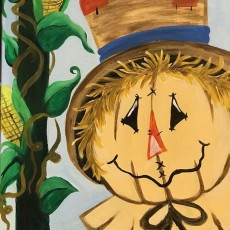Smiling Scarecrow Painitng