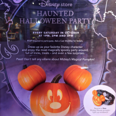 Disney store Haunted Halloween Party