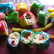 Sweet and Spooky: Halloween Candy Sushi