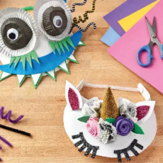 Halloween Visor Crafting for Kids