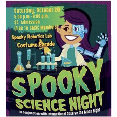 Things to do in Long Beach, CA for Kids: Spooky Science Night, Columbia Memorial Space Center