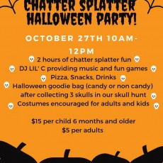 Eastern Main Line, PA Events: Chatter Splatter Halloween Party