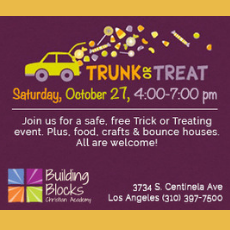 Things to do in Venice-El Segundo, CA for Kids: Trunk or Treat, Building Blocks Christian Academy
