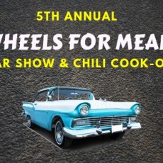 5th Annual Wheels For Meals Car Show/Chili Cook-Off