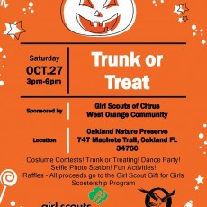 Trunk or Treat with the Girl Scouts!