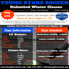 Winter Soccer Classes (Ages 2-12)