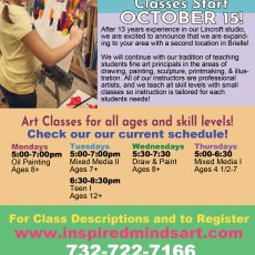Things to do in Southern Monmouth, NJ for Kids: NEW classes start OCT 15th!, Inspired Minds Fine Art School