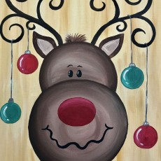 Hanging With Rudolph Painting