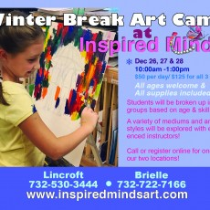 Things to do in Southern Monmouth, NJ for Kids: Winter Break Camp, Inspired Minds Fine Art School