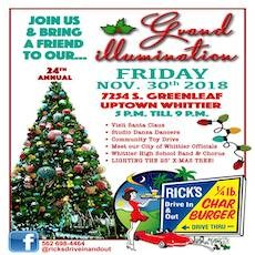 Things to do in Whittier, CA for Kids: Grand Illumination, Rick's Drive In & Out