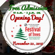 Opening Day at the Festival of Trees!
