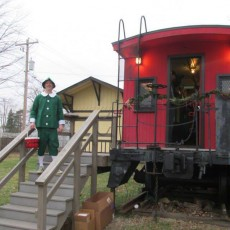 Santa in the Red Caboose