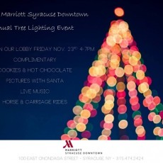 Things to do in Syracuse, NY for Kids: Annual Tree Lighting Event, Marriott Syracuse Downtown