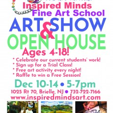 Things to do in Southern Monmouth, NJ for Kids: Art Show and Open House, Inspired Minds Fine Art School