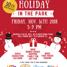 Burbank, CA Events for Kids: 30th Anniversary of Holiday in the Park