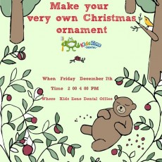 Things to do in Worcester, MA for Kids: Make your very own Christmas Ornament, Kids Zone Dental