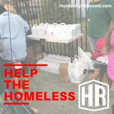 Provide necessities to the homeless