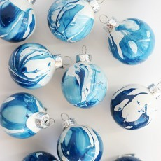 Open Studio: Marbling Magic, Holiday Ornaments