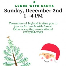 Things to do in Doylestown-Horsham, PA for Kids: Second Annual Toy Drive & Lunch with Santa!, Taormina's Pizza & Pasta of Ivyland