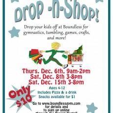 Things to do in Martin County-Port St Lucie, FL for Kids: Boundless Drop n Shop (Ages 4-12), Boundless Gymnastics