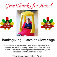 Things to do in Bridgewater NJ for Kids: Thanksgiving Pilates and Yoga Classes- Give Thanks for Hazel!, Glow Yoga Center