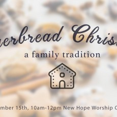 Things to do in Bend, OR for Kids: Gingerbread Christmas, New Hope Church