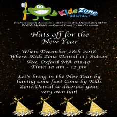 Things to do in Worcester, MA for Kids: Hats off for the New Year!, Kids Zone Dental
