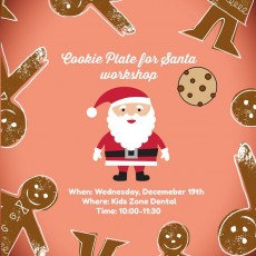 Things to do in Worcester, MA for Kids: Cookie Plate For Santa Workshop!, Kids Zone Dental